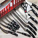 Набір кухонних ножів   Набір кухонних ножів Mibacle Blade 13 в 1 (Репліка), фото 9
