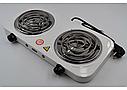 Плита электрическая на две конфорки WimpeX WX-200B-HP, фото 7