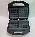 Электрическая вафельница с антипригарным покрытием Domotec MS 7705, фото 4
