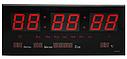 Електронний світлодіодний настінний годинник LED NUMBER CLOCK 3615 RED, фото 2