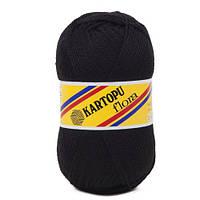 Пряжа для ручного вязания Kartopu Flora (акрил) черный