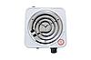 Спиральная электро плита на одну конфорку с регулятором мощности белого цвета WimpeX WX-100B-HP (1000 Вт), фото 5