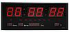 Комнатные электронные светодиодные настенные часы LED NUMBER CLOCK 3615 RED, фото 2