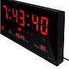 Комнатные электронные светодиодные настенные часы LED NUMBER CLOCK 3615 RED, фото 3
