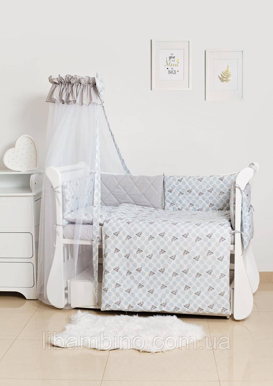 Комплект дитячої постілі Twins Premium Glamour 4049-TG-10G Polka Dots 8 елементів