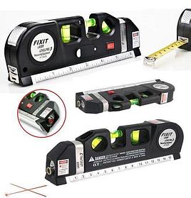 Лазерный уровень со встроенной рулеткой FIXIT Laser Level Pro 3 4в1 рулетка линейка