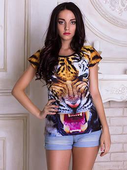 Женские футболки с принтами животных и птиц