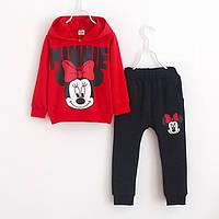 Дитячий костюм з капюшоном для дівчинки MINNIE на 2-6 років Червоний