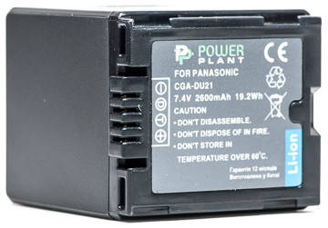 Аккумулятор PowerPlant Panasonic VBD210, CGA-DU21 2600mAh, фото 2