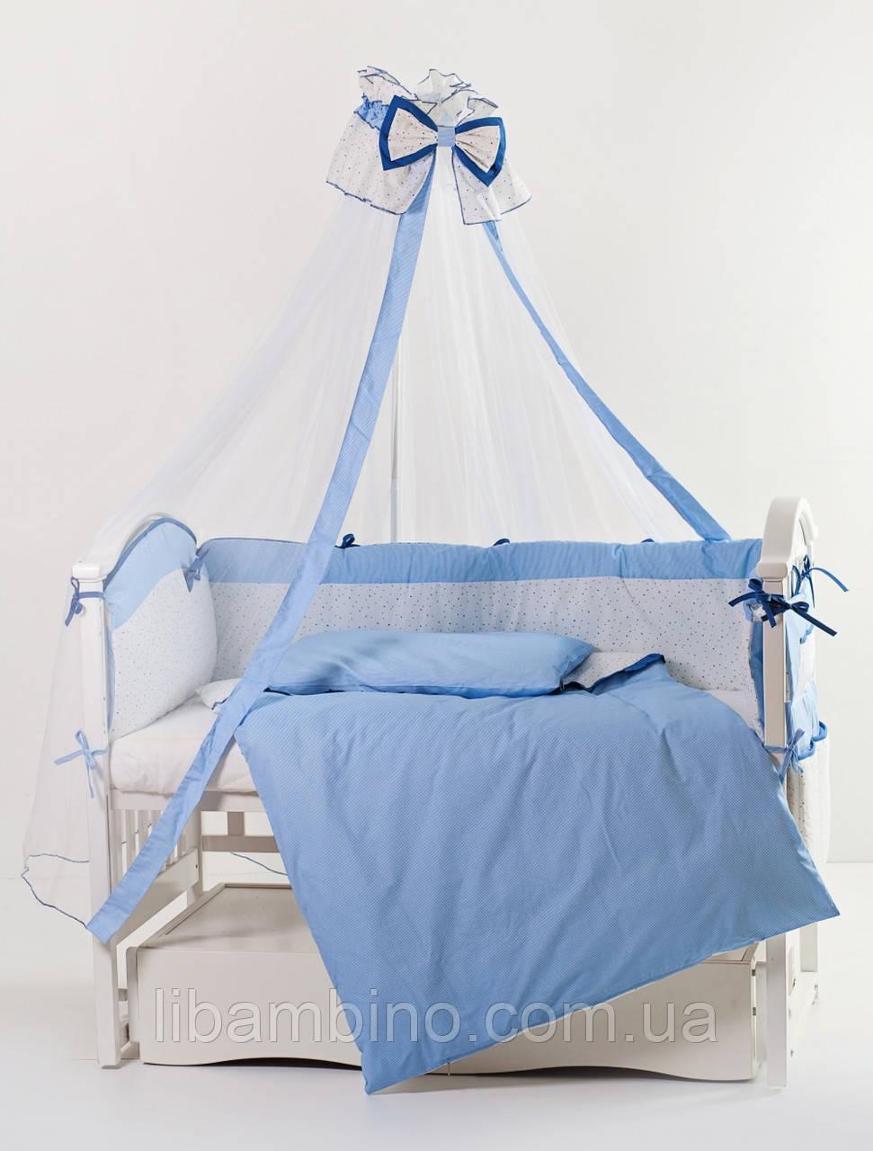 Комплект дитячої постілі Twins Premium Starlet dark blue P-021