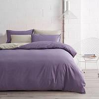 Комплект Постельного Белья Bella Villa Двухцветный из Сатина Хлопок Евро Размер B-0238