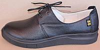 Туфли черные кожаные женские от производителя модель НТ31