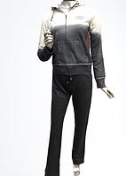 Спортивный костюм женский двухцветный AQUA Турция XS, S серый стразы