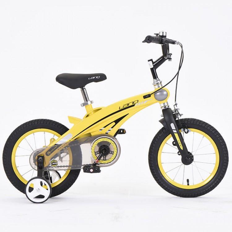 Детский легкий магниевый Велосипед с складным рулем  LANQ 39T 16 Дюймов Черный от 5 лет легкий