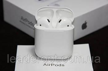 ОПТ Навушники гарнітура Apple бездротові білі AirPods 2 з чіпом Джилі