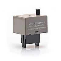 Реле поворотів для LED 8 контактів, 12В, з регулятором частоти поворотів