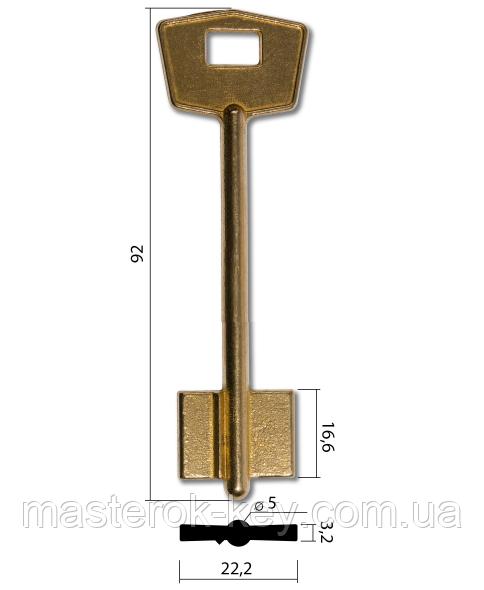 Заготовка ключа Кале 1 Конаково узкая