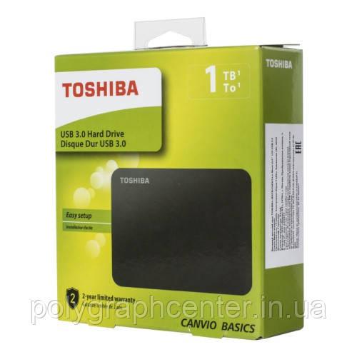 "Накопитель внешний HDD 2.5"" USB 1.0TB Toshiba Canvio Basics Black (HDTB410EK3AA)"