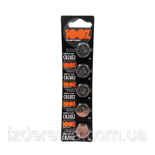 Батарейка    Peak Power 100% CR2032  Черная блистер 5  шт