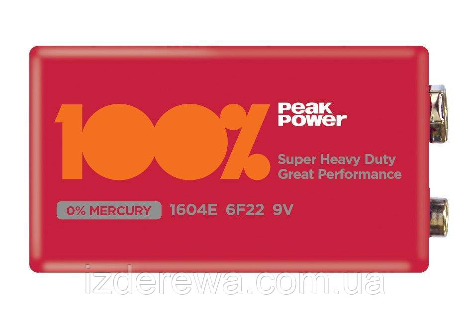 Батарейка Peak Power 100% SHD 1604 крона  Красная блистер 1  шт