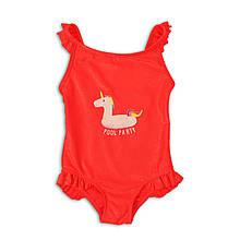 Детский цельный купальник для девочки 9-12 месяцев Minoti