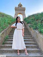 Женское длинное платье с поясом на талии, есть большие размеры!