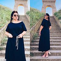 Женское свободное длинное платье, есть большие размеры!