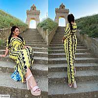 Женское свободное длинное платье с узорами, большой размер!