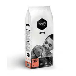 Корм Amity Adult Salmon&Rice гипоаллергенный для собак всех пород с лососем и рисом 15 кг