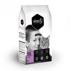 Корм Amity Adult Sterilised для стерилізованих котів з м'ясом птиці 3 кг