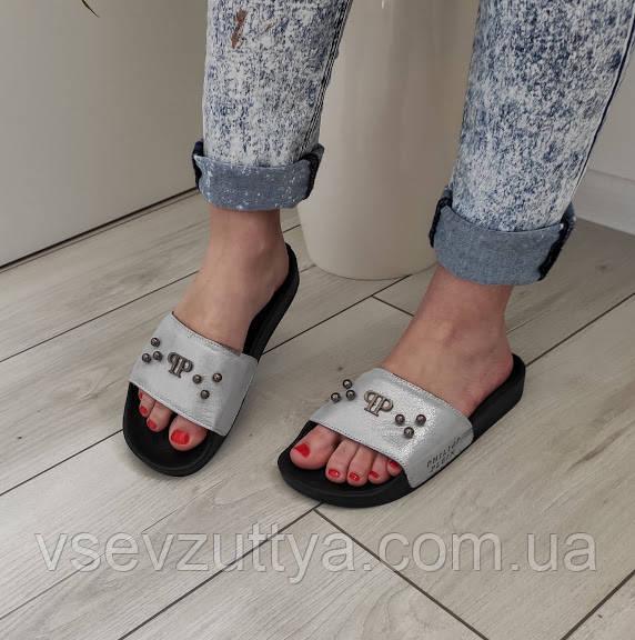 Шлепанцы женские кожаные 37р