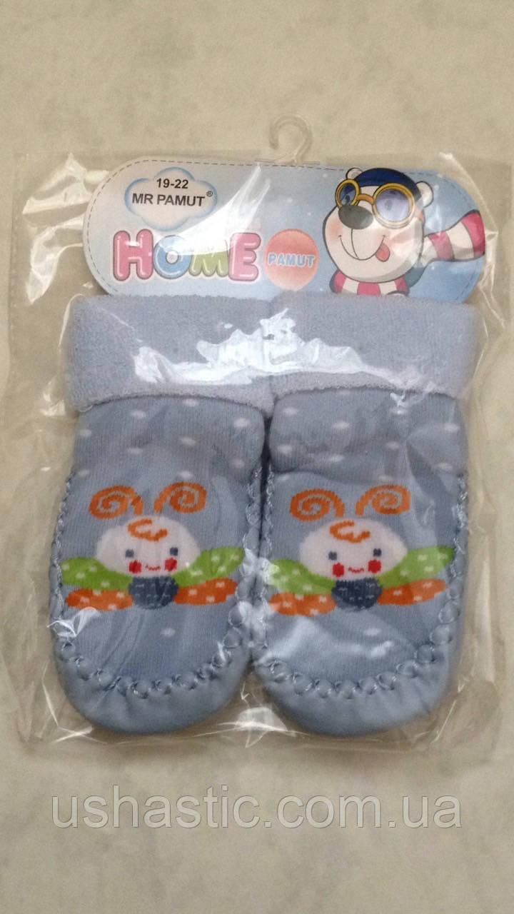 Пинетки-носочки махровые для мальчиков  р. 19-22 (Венгрия)