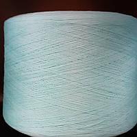 50%хлопок 50% акрил TURQUOISE - бобинная пряжа для машинного и ручного вязания