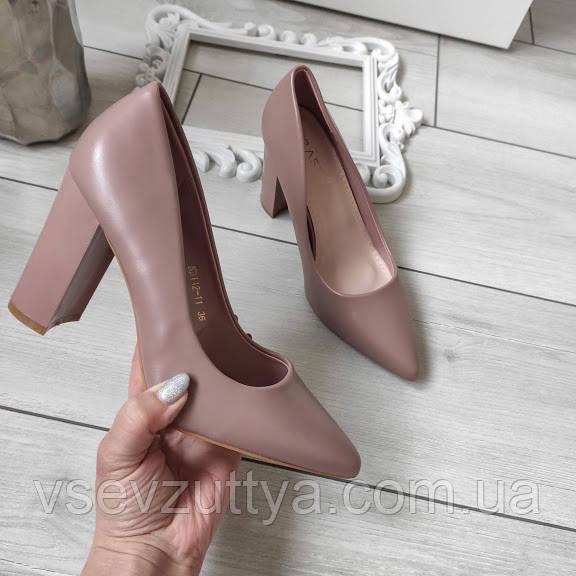 Туфли женские на каблуке экокожа