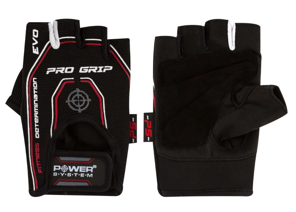 Перчатки для фитнеса PowerSystem PRO GRIP EVO PS-2250E BLACK  размер L