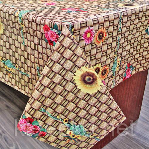 Клеенка ПВХ на кухонный стол с нетканой основой, оптовая продажа от 5 м
