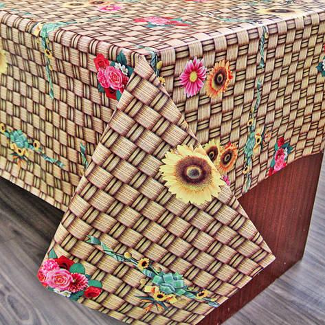 Клеенка ПВХ на кухонный стол с нетканой основой, оптовая продажа от 5 м, фото 2