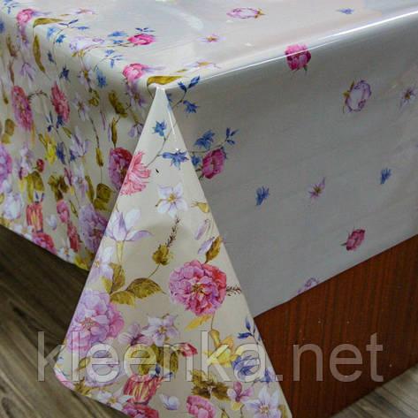 Клеенка с основой ПВХ на кухонный стол,  ОПТ со склада, рулон 25 м., фото 2