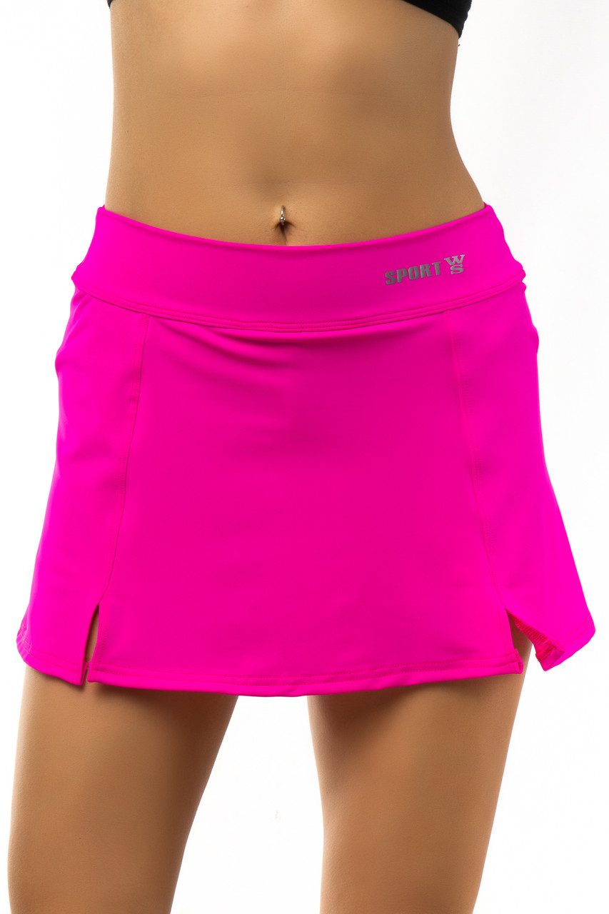 Юбка шорты эластиковая розовая