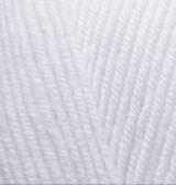 Пряжа для ручного вязания  Alize Lanagold (шерсть+акрил) белый