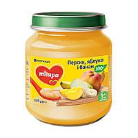 Детское пюре Milupa Яблоко банан и персик 125 г 149203 ТМ: Milupa