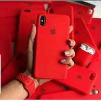 Оригинальный силиконовый чехол для Apple iPhone Xr красный