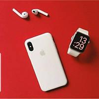 Оригинальный силиконовый чехол для Apple iPhone Xr белый