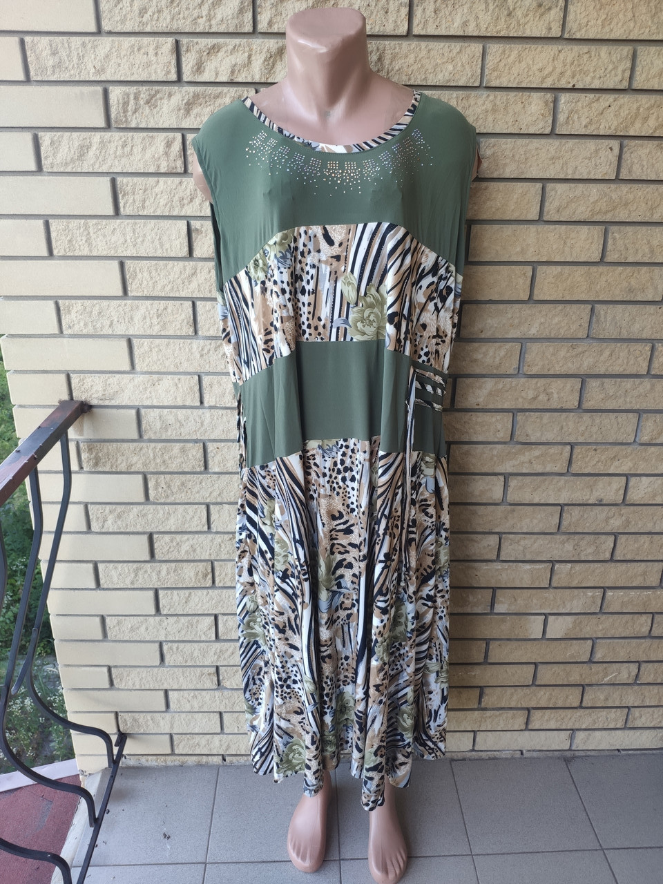 Платье женское очень большого размера, ткань масло NN