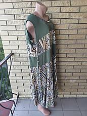 Платье женское очень большого размера, ткань масло NN, фото 3