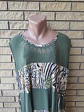 Платье женское очень большого размера, ткань масло NN, фото 2