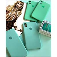 Оригинальный силиконовый чехол для Apple iPhone Xr зеленый