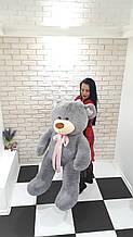 Плюшевый мягкий мишка 160 см серый