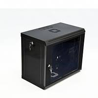 CMS UA-MGSWL935B Шкаф настенный 9U, 600x350x507мм (Ш*Г*В), економ, акриловое стекло, черный UA-MGSWL935B