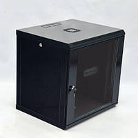 CMS UA-MGSWL126B Шкаф настенный 12U, 600x600x640мм (Ш*Г*В), економ, акриловое стекло, черный UA-MGSWL126B